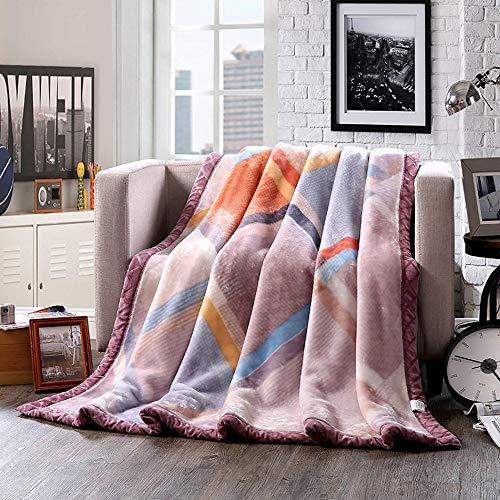 YJJSL Manta Manta de Doble Capa Raschel Gruesa Súper Suave Calidez cómoda Manta Extraordinaria de la Cubierta del Estilo (Size : 150cmX200cm)