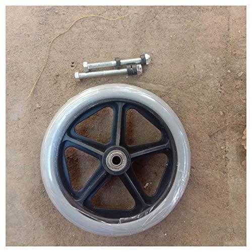WYCD 2 Stück Rollstuhlreifen, PVC Rad Sackkarre, Ersatzrad Bollerwagen Reifen, Rollstuhl Reifen Inklusive Schraube