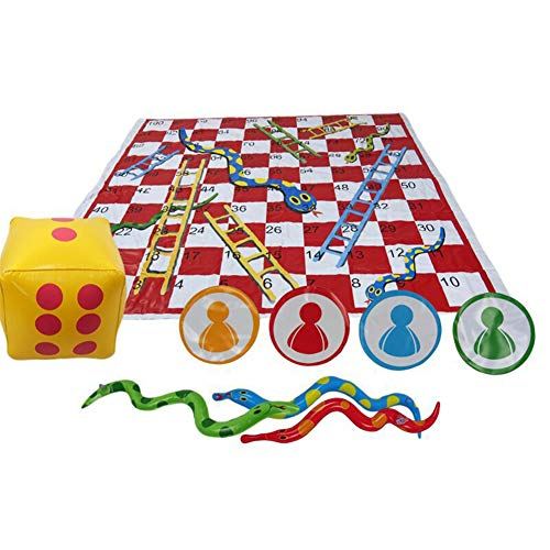 Toys Snakes and Ladders Game Set, Toys Traditional Snakes and Ladders Board Game, Parent-child Interaction Toys for Family, for 2 - 6 Players Suitable for Years 4+