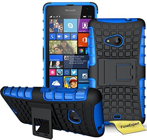 Microsoft Lumia 535 Funda, FoneExpert® Heavy Duty silicona híbrida con soporte Cáscara...