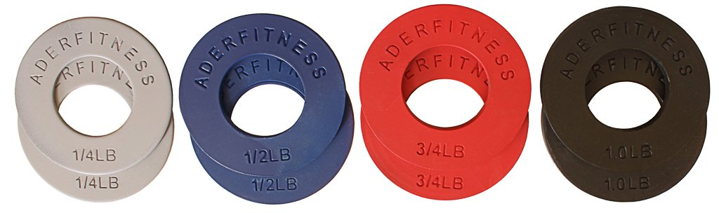 Ader Olympic Fractional Plates Set- (1/4; 1/2; 3/4; 1.0 Lb) 4 Pairs, Great Gift Set