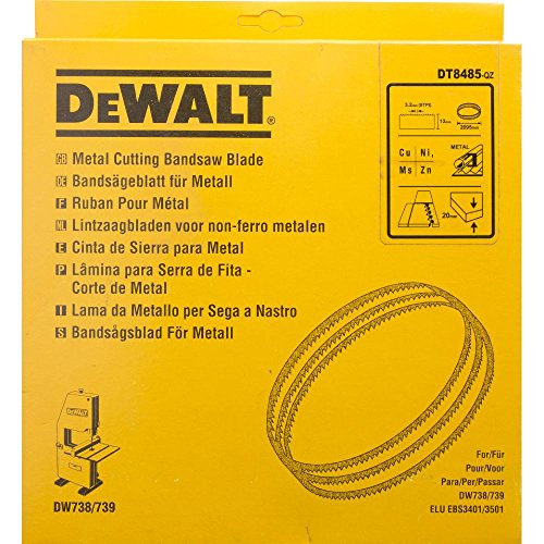 Dewalt DT8485-QZ DT8485-QZ-Hoja para Sierra Cinta, Longitud: 2095mm, Ancho: 12mm, espessor: 0.6mm, Paso: 3.2mm, para Cortes Finos en Metal no Ferroso, 0 W, 0 V, Plateado