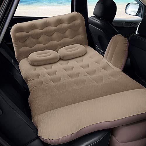 Colchón de Aire Portátil de la cama de aire interior y exterior colchón de aire engrosamiento reunida Airbed con una función de almacenamiento de función Almohada de viaje inflable cama Cama Inflable