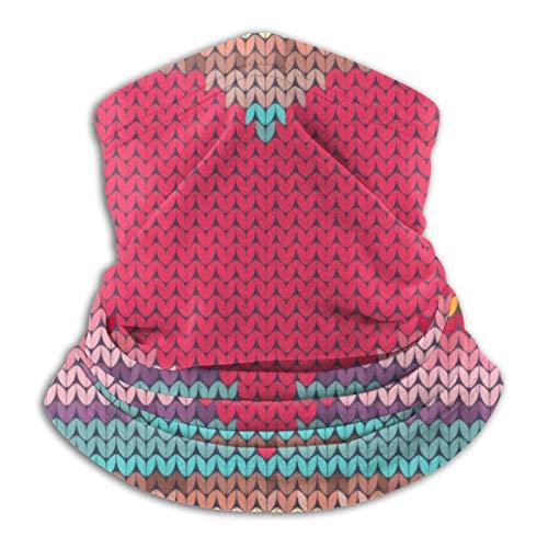 Bandana de lana con diseño de corazón arcoíris para San Valentín con bordado de imitación para cuello, bufanda, calentador de cuello, pasamontañas para motocicleta, ciclismo, montar a caballo, correr