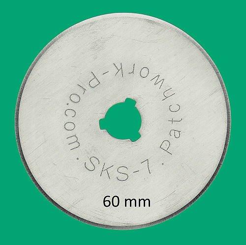 Patchwork-Pro Ersatzklingen 10x Klingen 60mm 60 mm Marke, Deutscher Klingen-Stahl für Rollschneider Rollmesser Rotary Blade Patchwork Quilt