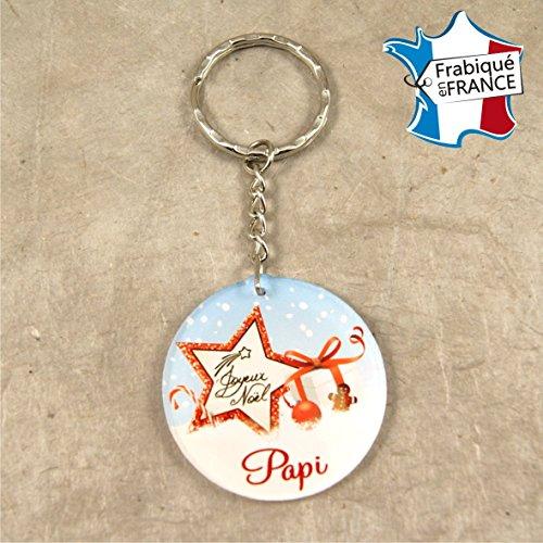Porte Clef – Joyeux Noël Papi (Cadeau de Noël pour Papy - décoration de Sapin)