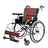 MinMin Alter Mann-Rollstuhl, der helle ältere Aluminiumlegierungs-tragbare Reise-Laufkatzen-Hellen kleinen Roller faltet Medizinische Ausrüstung -