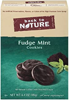 Back To Nature Fudge Mint Cookies, 6.4-Ounce Boxes (Pack of 6)