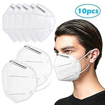 PRXD Personal Protective 5 Layers of Protection Effective Against fine Airborne Particles, Dusts, Mists and Pollutants (10 PCS) by PRXD