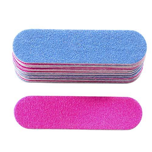 LEVEL GREAT 100PCS Profesional desechable Lateral Doble Lima de uñas Cuidado de la Belleza cosmética manicura pedicura