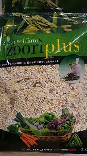 Zoorì Plus Riso soffiato con Verdure ed Erbe officinali 100% Italiano 2 kg