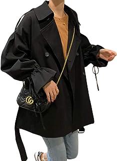 スムーズに時間協会BEIBANGコート レディース トレンチコート 長袖 ミリタリー ジャケット ゆったり 韓国ファッション アウター カジュアル 無地 かわいい 秋服 通勤 通学