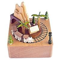 クリエイティブ回転オルゴール、木製オルゴール、古典的な素敵なオクターブオルゴールギフト玩具装飾子供の誕生日プレゼントプレゼントクリスマス