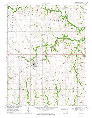 Kansas Maps - 1966 Cuba, KS - USGS Historical Topographic Wall Art : 24in x 30in