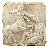 Ebros Large Classical Greek Mythology God Half Man Half Horse Mortal Combat Centaur And Lapiths Metope Wall Hanging Plaque Decor Statue 16.25
