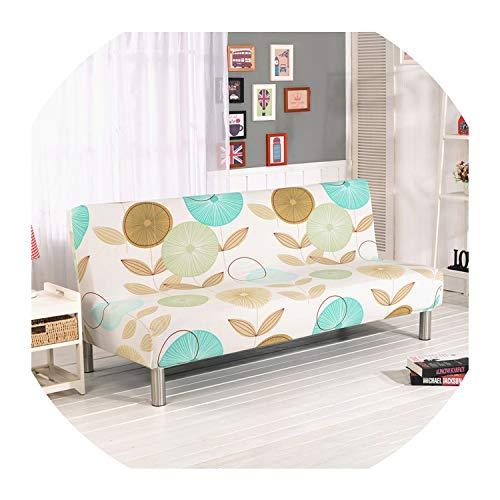 Nihaoma Elastic Schlafsofa Abdeckungen ohne Armlehne Feste Verpackung Couch Abdeckung Stretch Flexible Slipcovers Sofa Handtuch,K240,160-190Cm