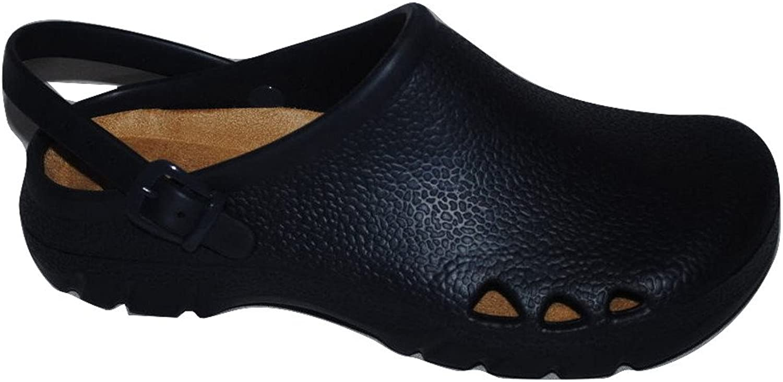 Allheart Unisex ComfortClogs Polymer Italian Clogs with Strap