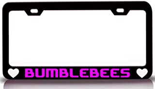 Custom Brother - BUMBLEBEES with Heart Steel Metal License Plate Frame Auto Tag Holder Holder Bl