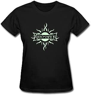 ZHENGXING Women's Godsmack Band Logo Heavy Metal Short Sleeve T-Shirt XXL ColorName