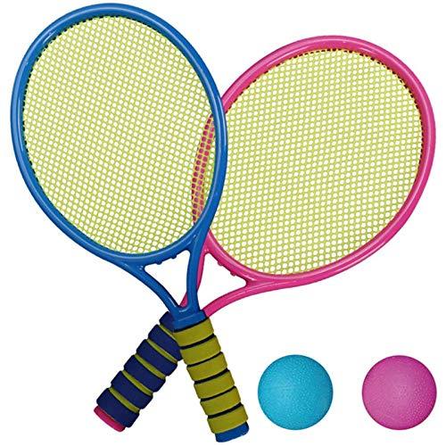 Cestbon Tenis Set, 2 Raquetas, 2 Pelotas Suaves, bádminton Raquetas de plástico Juguetes,1