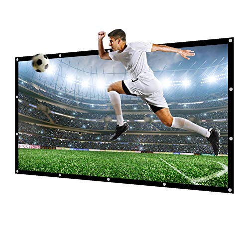 NIERBO Projector Screen 180 Inch 16:9 NIERBO Portable Movies Screen HD Projection Screen for Home Indoor Outdoor
