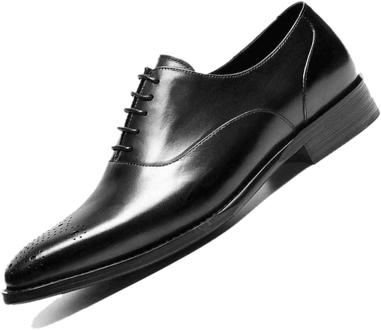 Derby Carved British Pointed Herren Business Leder Leder Toe Handmade Formal Wear Gentleman England Party Weinrot Schwarz