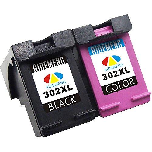 2 XL Compatibili Sostituzione per HP 302XL Cartucce d'inchiostro Sostituzione per Officejet 3830 3832 3833 3834 4650 4651 4652 4654 DeskJet 1110 2130 2132 2134 3630 3632 3633 3634 Envy 4520 4522 4523 4524 - Nero/Colore, Alta Capacitš€