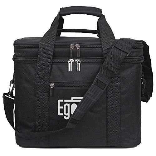 EGOGO Insulated Lunch Box Grande capacità, Borsa Termica Borsa Pranzo con Tracolla per Uomo e Donna E524-1 (Nero)