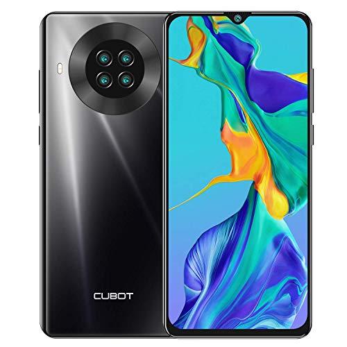 Cubot Note 20 Pro - Smartphone de 6.5' HD+, 8GB y 128GB, Cámara Cuádruple de 20 MP, Batería de 4200mAh, Android 10, Procesador Helio P60, Color Negro
