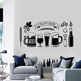 Craft Beer Wall Decal Glass Drink bar bar Interior Decoration Vinyl Window Sticker Barley Beer Art Mural Decoration