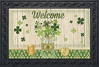 Briarwood Lane Lucky Clovers St. Patrick's Day Doormat Shamrocks Indoor Outdoor 18