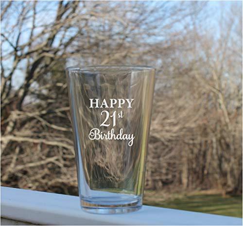 Vasos de cerveza personalizables de 16 onzas, vasos de pinta personalizados, para cumpleaños, pinta, vaso de pinta, cristal de pinta, grabado, vaso de pinta, vaso de cerveza Pilsner grabado