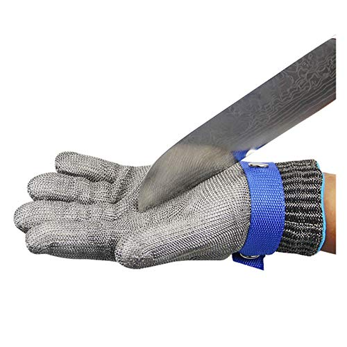 Schnittfeste Handschuhe 316L Stahldraht Cut-resistente Handschuhe, Metzgereis 'Fleisch Schneideschutz Hand Sicherheitsarbeit Handschuhe, 5 Größen (Size : Small)