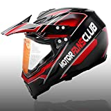 MotorFansClub Medium Full Face Helmet Off-Road Dirt Bike Helmets Motorcycle...