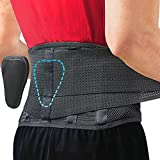 Lumbar Support Belt by Sparthos - Relief for Back Pain, Herniated Disc, Sciatica, Scoliosis and More - Breathable Mesh Design with Lumbar Pad - Adjustable Support Straps - Lower Back Brace - Size XXL