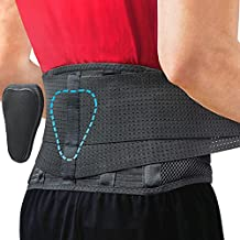 Back Support Belt by Sparthos - Relief for Back Pain, Herniated Disc, Sciatica, Scoliosis and more! - Breathable Mesh Design with Lumbar Pad - Adjustable Support Straps - Lower Back Brace -Size Small