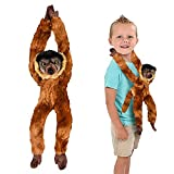 ArtCreativity Brown Hanging Collard Lemur Plush Toy, 18 Inch Stuffed Three-Toed Sloth with Realistic Design, Soft and Huggable, Cute Nursery Decor, Best Birthday Gift for Boys and Girls