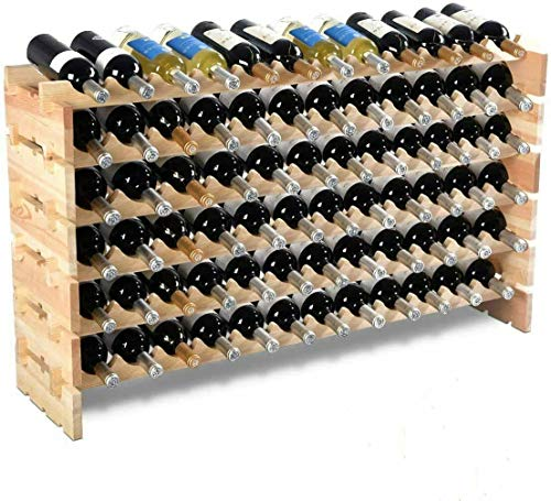 MAMI   Cantinetta Vino in Legno   Portabottiglie da Terra 2 Varianti da 28 o 72 Bottiglie   Cantina Scaffale 100% Made in Italy