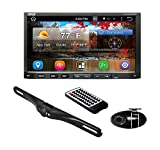 Premium 7In Double-DIN Android Car Stereo Receiver with Bluetooth - HD DVR Dash...