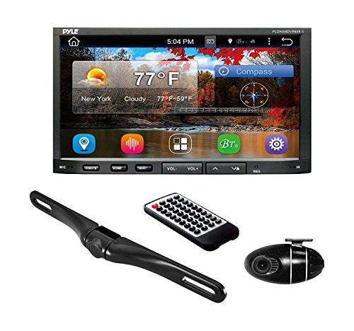 Premium 7in Double-Din Android Car Stereo Receiver with Bluetooth - HD DVR Dash Cam and Rearview Backup Camera - Touchscreen Display with Wi-Fi Web Browsing and App Download