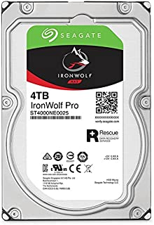 Seagate IronWolf Pro 4TB NAS Internal Hard Drive HDD – 3.5 Inch SATA 6Gb/s 7200 RPM 128MB Cache for RAID Network Attached Storage, Data Recovery Rescue Service (ST4000NE0025)