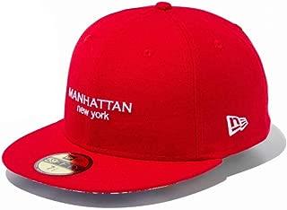 NEW ERA(ニューエラ) キャップ 帽子 59FIFTY シティランドスケープ マンハッタン ニューヨーク 11901319 スカーレット 7 1/4