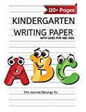Kindergarten Writing Paper With Lines For ABC Kids: 120 Blank Handwriting Practice Paper with Dotted Lines   Kindergarten Workbook (Spot Kindergarten Workbook)