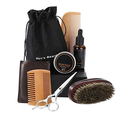 Hommes Barbe Styling Shaping Mustache Hair Care Tool Styling Moustache Beard Care Set, Beard Grooming and Trimming Kit(01)