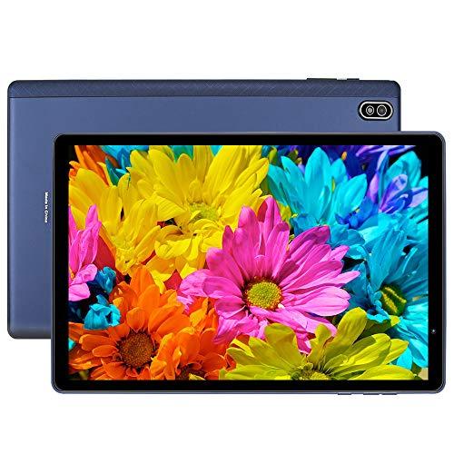 LNMBBS T610 Tablet 10 Pulgadas, Android 10.0, 5G WiFi, procesador de 8 núcleos a 1.8Ghz, 1920*1200 FHD, 4GB RAM, 64GB ROM, Cámara de 8MP+2MP, Batería 6000mAh, Face ID, WLAN, GPS, Bluetooth, OTG, Azul