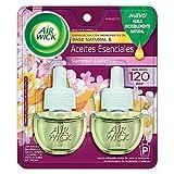 Air Wick® 2 Repuestos de Aromatizante de Ambiente Continuo para Aparato Difusor eléctrico, Aroma Summer Delights Flores Blancas, Melón y Vainilla, 20 ml c/u