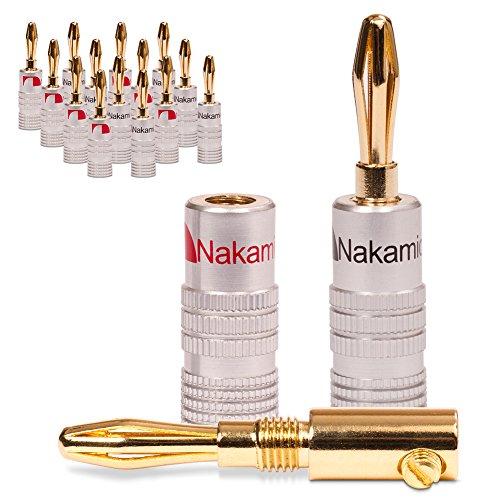16x Bananenstecker vergoldet Nakamichi High End Bananas 24K für Kabel bis 6mm²