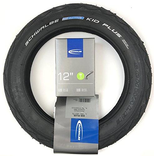 Bohle Reifen und Schlauch Kid Plus für Kinderwagen,Roller 12x1,75(47-203) mit AV 1 45°