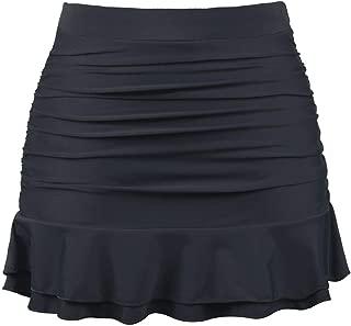 Firpearl Women's Swim Skirt Ruched Swimsuit Bikini Tankini Bottom Ruffle Swim Skirt