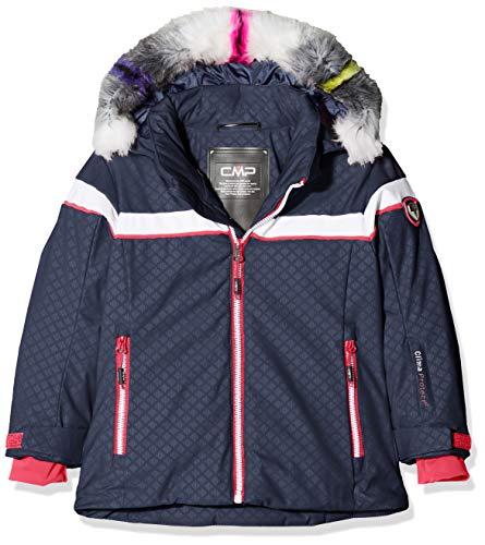 CMP Mädchen Wattierte 7000 Eco Fur Skijacke Jacke, Asphalt, 128